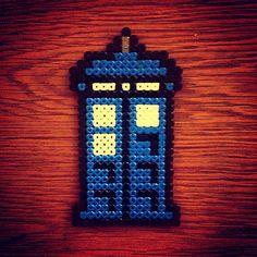 Tardis Doctor Who hama beads by abbernaffy