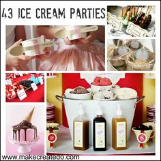 43 Ice Cream Party Ideas and Inspiration!!This is one yummy post!! |