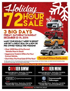 Your #dreamcar now has the best price of the year at our #72HourSale! Get ready for the #holidays with a new #VW!