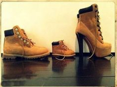 Adorable matching shoes. His and hers.