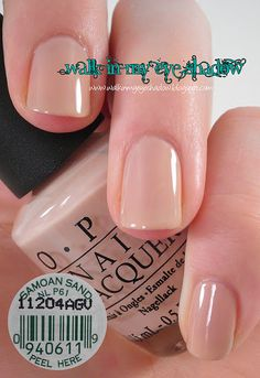My favorite nude polish (works great for ultra fair skin too!) OPI- Samoan Sand.