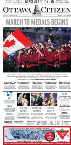 Ottawa Citizen Front Page, February 8, 2014