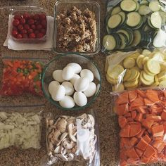 "#1 Meal Plan & Prep Tool on Instagram: ""This prep brings up a great point! It's not just about prepping your meals, but also ingredients, toppings, and sides for the week. The best example I do each week is pre-cut onions, tomatoes, and mushrooms for my eggs. Great job @kileyskitchen"