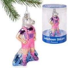 Accoutrements Lederhosen Unicorn Ornament Funny Christmas Tree Hang Decor Gift | eBay