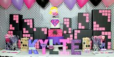 If you have a little girl with big dreams of being a Superhero when she grows up, then this Girly Superhero Party in pink, purple and black is for you.