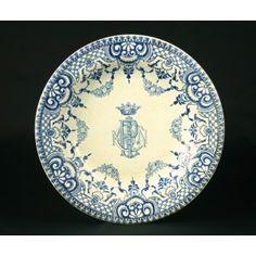 Assiette creuse, faïence fine de Gien:1875-1888 Gien, Kintsugi, Marquis, Portuguese, Arts, Comme, Dutch, Oriental, Decorative Plates