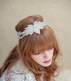 Bridal headpiece crystal bridal headband swarovski by LoBoheme, $148.00