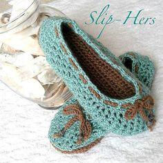 Free Women Slipper Crochet Patterns | Crochet pattern kids and womens ballet slippers | Flickr – Photo …  | followpics.co