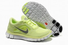 Nike Free 5.0 Lime Gray Womens Running Shoes