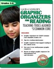 Graphic Organizers for Reading: Teaching Tools Aligned with the Common Core - Available in both digital and print versions - Digital version is free when you purchase the print version from www.lauracandler.com $