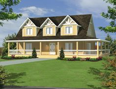 2- Story Log Home Toll Free: (877) 238-7056