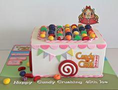 Candy Crush Birthday Candy Crush Cakes, Candy Crush Saga, Sugar Paste, Gum Paste, Cake Icing, Frosting, Beautiful Cakes, Amazing Cakes, Motorbike Cake