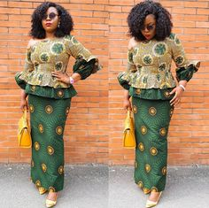 peplum ankara skirt and blouse,latest ankara skirt and blouse long skirt and blouse African Attire, African Wear, African Dress, African Outfits, African Style, Latest African Fashion Dresses, African Print Fashion, Ankara Fashion, Native Fashion