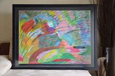 """Born Free on Colourfields  2009, Crayon on paper, 54.5"""" (w) x 42"""" (h)"""