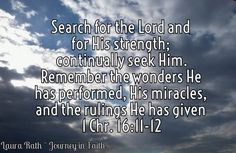 God's plan for Women is to worship Him 1 Chronicles 16:11-12- Seek the Lord and His strength; seek His face evermore! Remember His marvelous works which He has done, His wonders, and the judgements of His mouth.