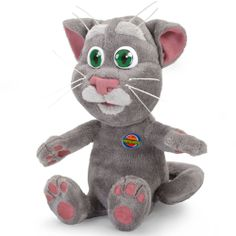 The Talk Back Mimicking Tomcat - Hammacher Schlemmer - This is the plush Tomcat that repeats anything said to it in a cartoonish voice.