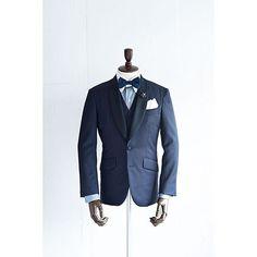 新郎衣装 ショールカラーのネイビーカジュアルタキシード : 結婚式の新郎衣装に関するお話 カジュアルウェディングまとめ