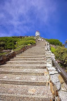 ˚Steps to the lighthouse on Cape of Good Hope - South Africa Around The Worlds, Places Around The World, Cape Town South Africa, Stairway To Heaven, Most Beautiful Cities, Africa Travel, What A Wonderful World, Countries Of The World, Wonders Of The World