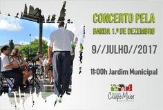 Campomaiornews: Banda 1.º de Dezembro em concerto no Coreto do Jar...