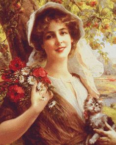 Emile Vernon Country Summer painting is shipped worldwide,including stretched canvas and framed art.This Emile Vernon Country Summer painting is available at custom size. Photo Vintage, Vintage Art, Vintage Ladies, Vintage Images, Victorian Ladies, Vernon, Beaux Arts Paris, Illustrations Vintage, Munier