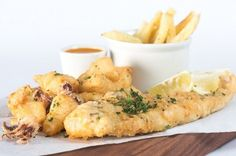 Toni's Fish and Chips Company is famous for its second-to-none gourmet wraps presented by Toni Sime, well-known for her famous Pizza Restaurant Pizza Restaurant, Fish And Chips, Cape Town, Bait, Cravings, Seafood, Gallery, Gourmet