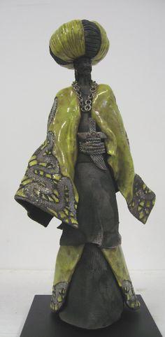 Paul BECKRICH, Le sultan, 60 x 24 x 28 cm, raku