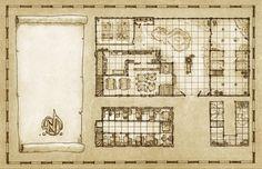 A typical large Tavern/Inn on a western-like setting All Pencil! Copyright Gamesmith LLC.