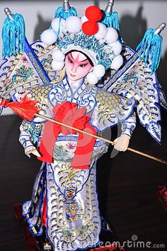 Cloth made of the statue is a kind of folk art in Beijing, she is the role of Beijing local opera. Photo taken at the Beijing Cultural Expo.