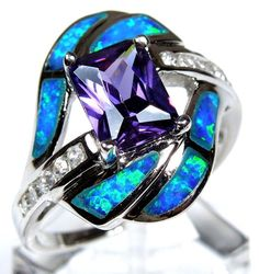 amethyst blue fire opal: