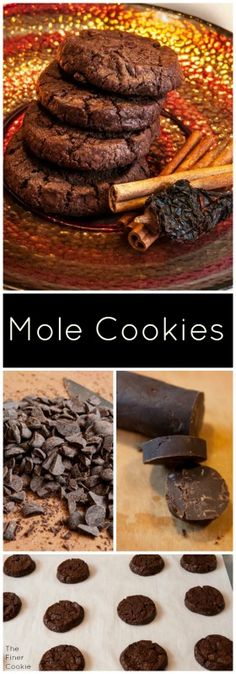 This cookie kicks with with chipotle in adobo sauce and cinnamon - three of the essential ingredients in authentic Mexican Mole Sauce along with a decadent fudgy chocolate cookie dough.