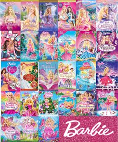 List of every single Barbie movie ever made in order. Made by me!