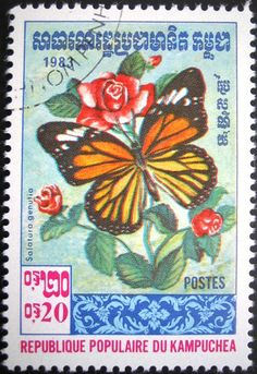 butterfly postage stamps | 蝶の切手 butterfly Stamp
