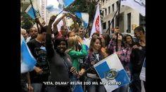 Cariocas participam de manifestação a favor dos royalties - Vídeos - R7