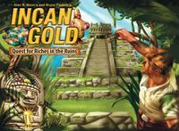 Incan Gold   Board Game   BoardGameGeek 8 and up, 3-8 players -  could be good with my Cub Scouts