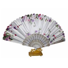 Pretty+Floral+Waved+Hand+Fan+(Set+of+4)+–+CAD+$+20.84
