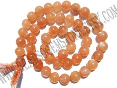 Peach Moonstone Smooth Round (Quality AA+) (Pack of 2 Strands) / 7.50 to 8.50 mm / 27 to 29 Grms / 36 cm / MOONS-053 by GemstoneWholesaler on Etsy
