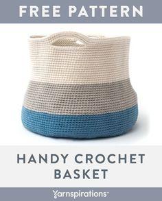 Crochet Basket Pattern, Crochet Tote, Crochet Handbags, Crochet Baskets, Free Crochet, Knit Crochet, Crochet Patterns, Crochet Ideas, Crocheted Bags