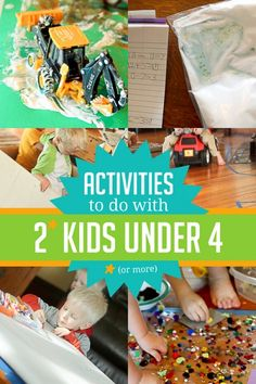 Activities to do with 2 kids (or more) that are all under 4 years old
