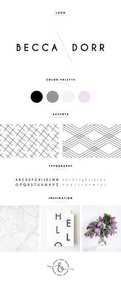 Modern lavender + black + white blog logo  //  by Heart & Arrow Design