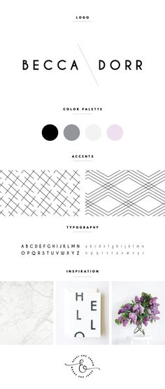 Modern lavender + black + white blog logo  //  by Heart & Arrow Design