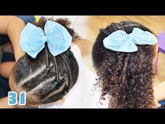 Penteado Infantil fácil para cacheadas - Rabo de Cavalo Lateral com Torcidinho #31 - YouTube