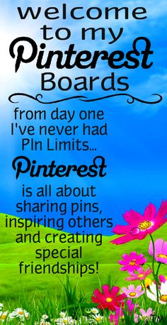 Pinterest is all about sharing pins, inspiring others and creating special friendships... No pin limits ♥ Tam ♥