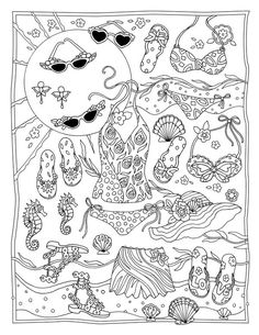 Fanciful Fashions Coloring Book by Marjorie Sarnat - Pesquisa Google