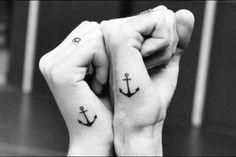 Tatuajes para parejas: Fotos de los diseños más tiernos - Tatuaje para parejas con forma de ancla