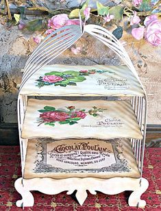 Paper Project - French Birdcage Patisserie Stand. {Reader featured project on The Graphics Fairy}