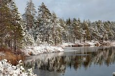 First snow in Finland.