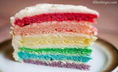 Resep rainbow cake beserta panduan lengkap cara membuat rainbow cake lembut dan enak menggunakan 2 cara, yaitu dengan cara di panggang dan di kukus.