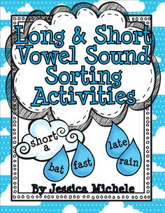 Long and Short Vowel Sound Sorting Activities {Clouds and Word Work Activities, Spelling Activities, Sorting Activities, Speech Therapy Activities, Speech Language Therapy, Language Activities, Speech And Language, Speech Pathology, Language Arts