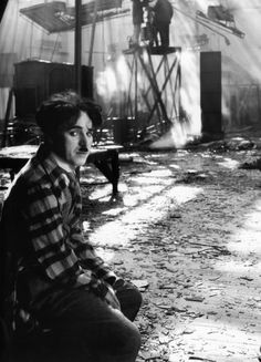 "fuckyeahchaplin: "" Charlie on the set of the Circus after a fire that destroyed a good portion of it. The Circus was probably Charlie's most difficult film to…"