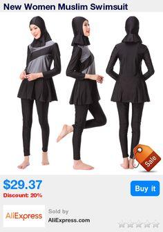 New Women Muslim Swimsuit Swimwear Sunscreen Islamic Ladies Swimwear Modest Swimwear Top+Pant+Cap Set Muslim Swimming Clothes * Pub Date: 14:40 Sep 12 2017